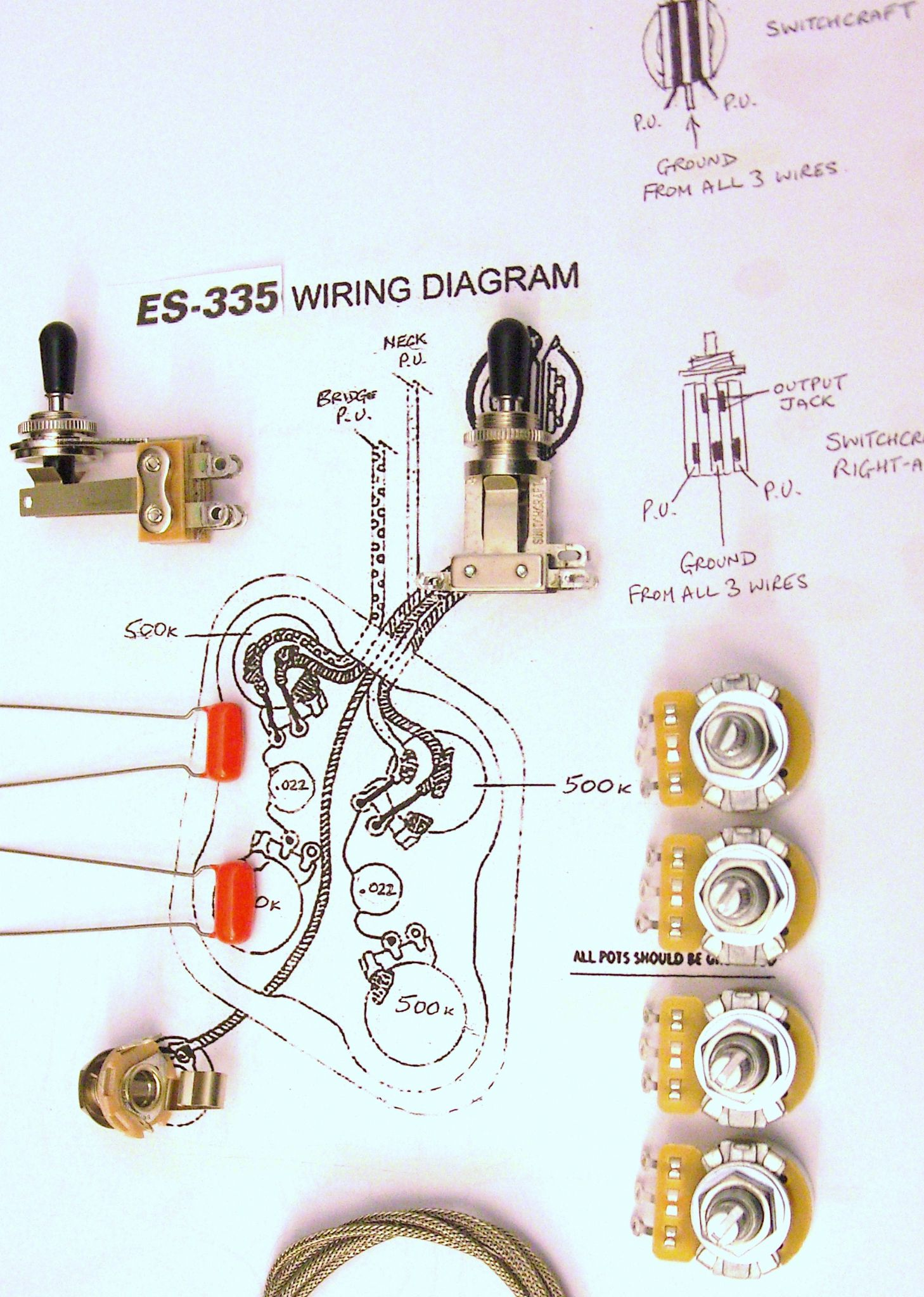 wiring kit for 335 with short switchcraft toggle switch 1767 p wiring kit for 335 with short switchcraft toggle switch switchcraft jack wiring diagram at aneh.co