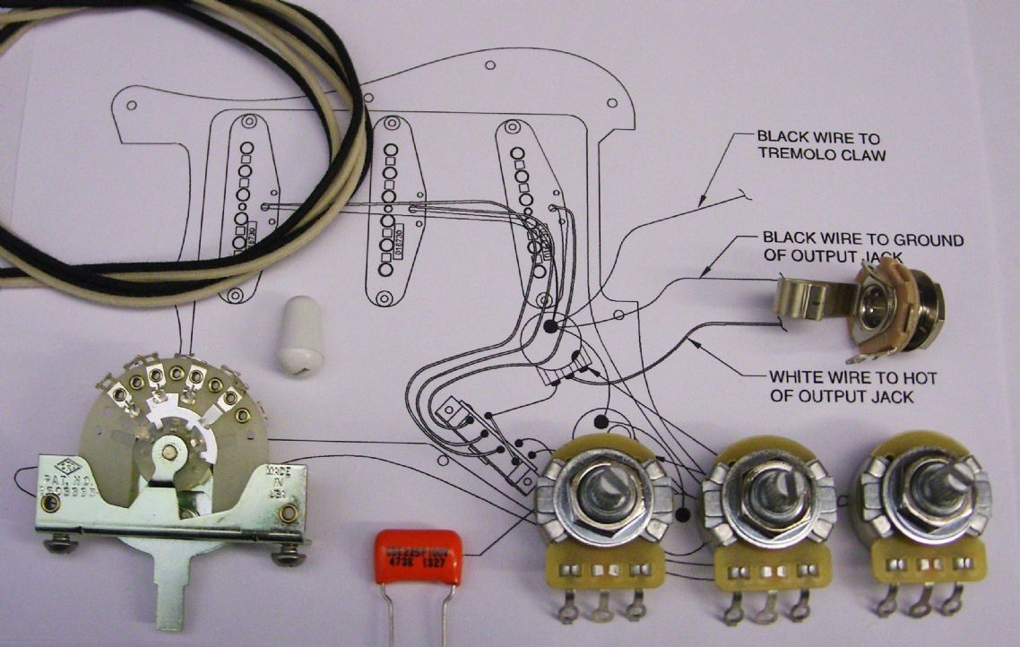 wiring kit for strat with crl switch. Black Bedroom Furniture Sets. Home Design Ideas