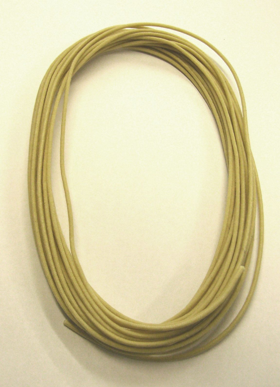 22 Gauge Vintage Type Cloth Covered Wire 25ft Off White GW-0820-025